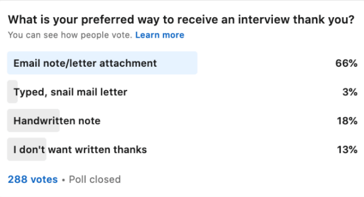 Interview Thank-You Poll
