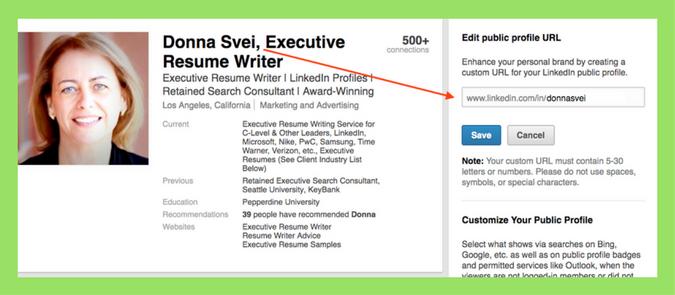How To Customize Your Linkedin Profile Url Video Avidcareerist