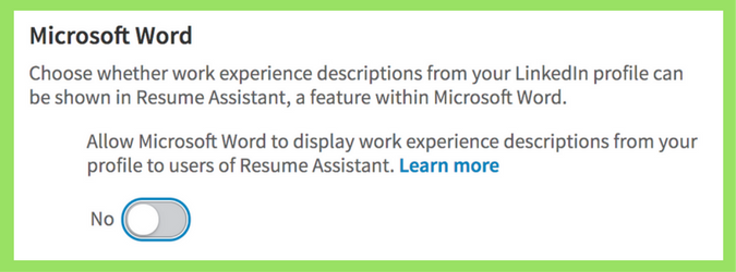 How To Protect Your LinkedIn Profile From Microsoft Resume Assistant